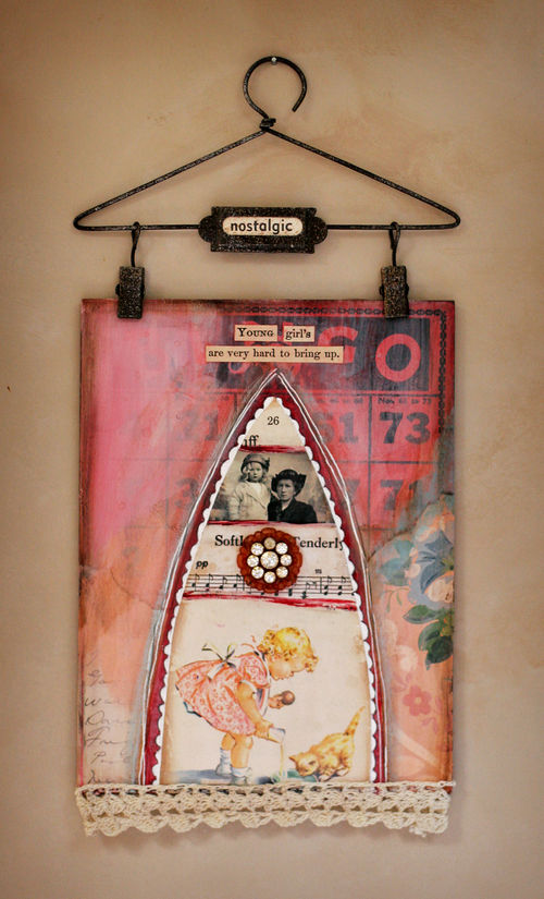Young girls wall hanging