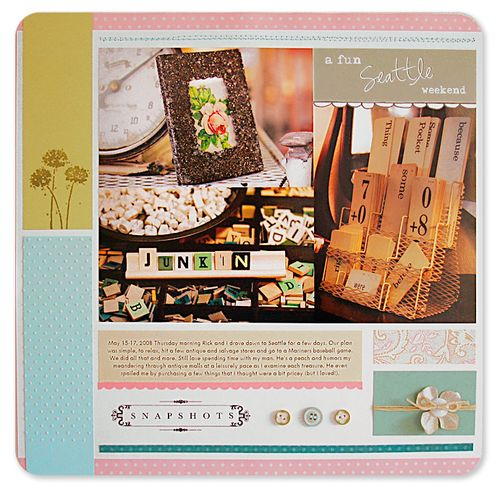 CPR Flowers article layout a Fun Seattle Afternoon layout color fixed