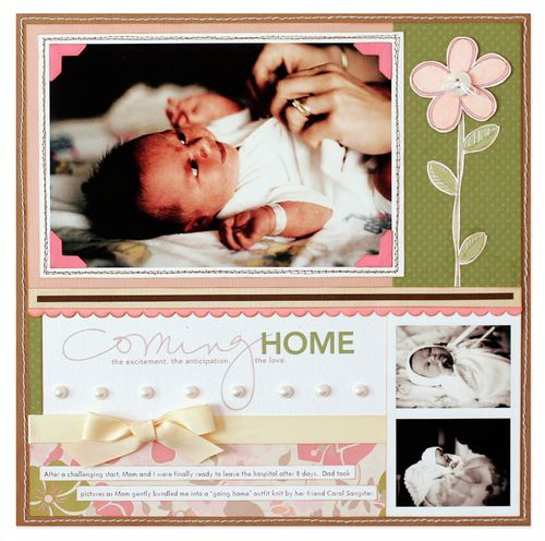 Carolyn Peeler coming home layout on white background with shadow smaller for blog