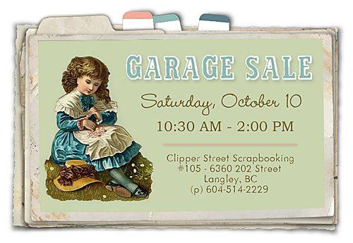 Garage sale for blog