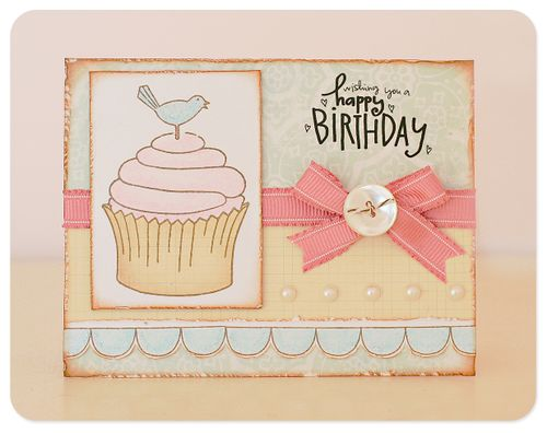 Card- wishing you a happy birthday pink persimmon
