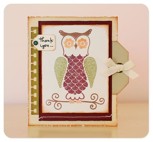 Card - thank you pink persimmon