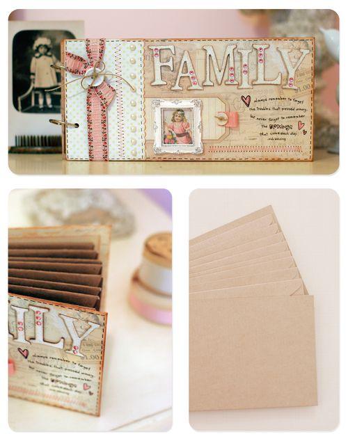 Family envelope book for blog