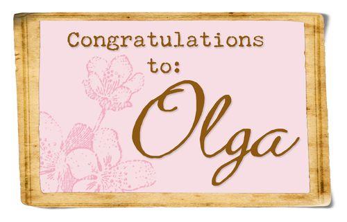 Blog winner Olga