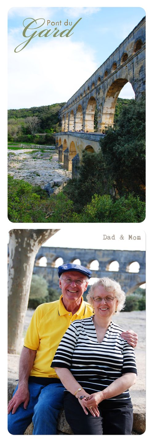 Pont du gard collage