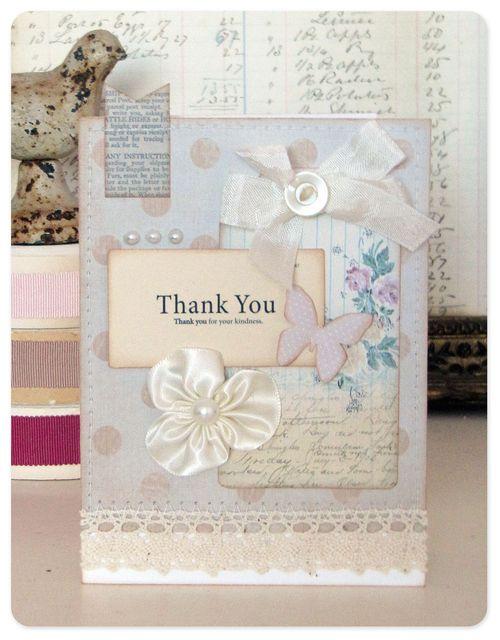 Thank you card flashcard