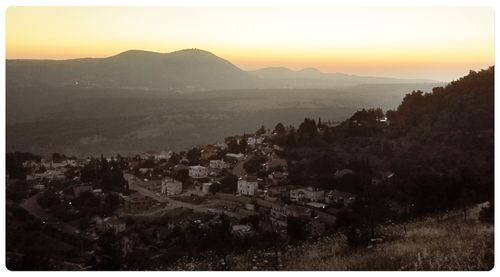 Sunset from safed