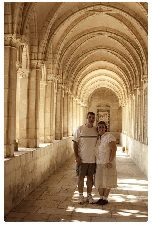 Rick and i in the church of the lords prayer