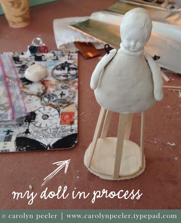 Santos doll in progress by Carolyn Peeler for web