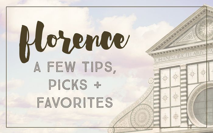 Florence tips for blog