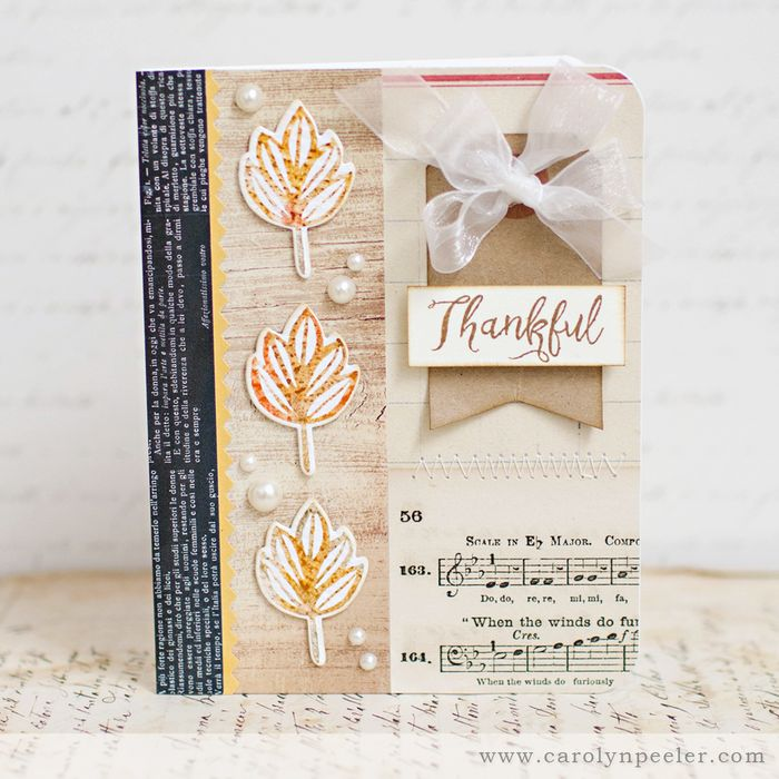 Thankful card by Carolyn Peeler