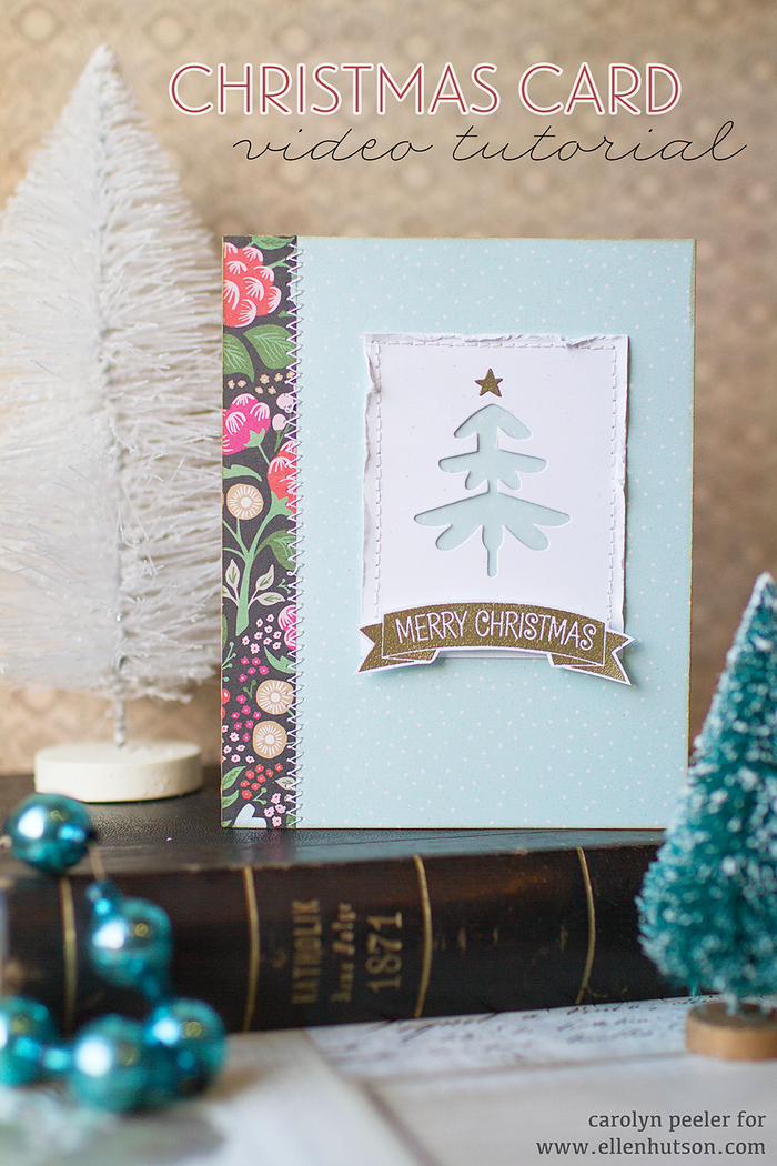 Christmas card video tutorial