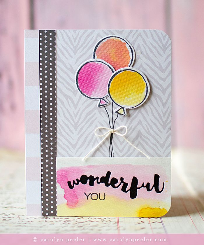 Wonderful you card by carolyn peeler for ellen hutson
