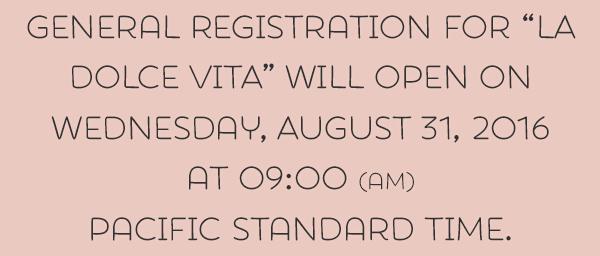 Registration will open 2017
