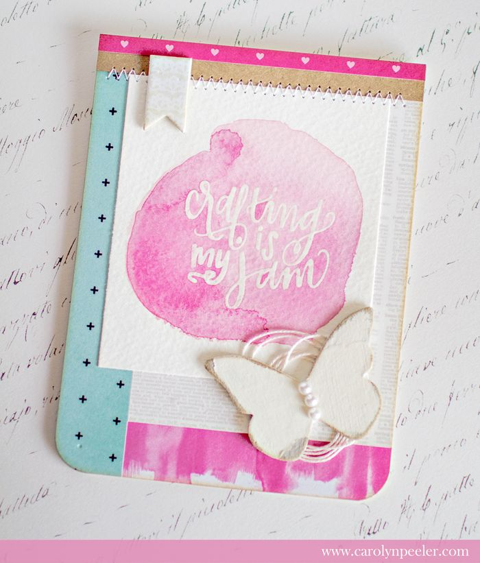 Crafting is my jam pink by carolyn peeler for web