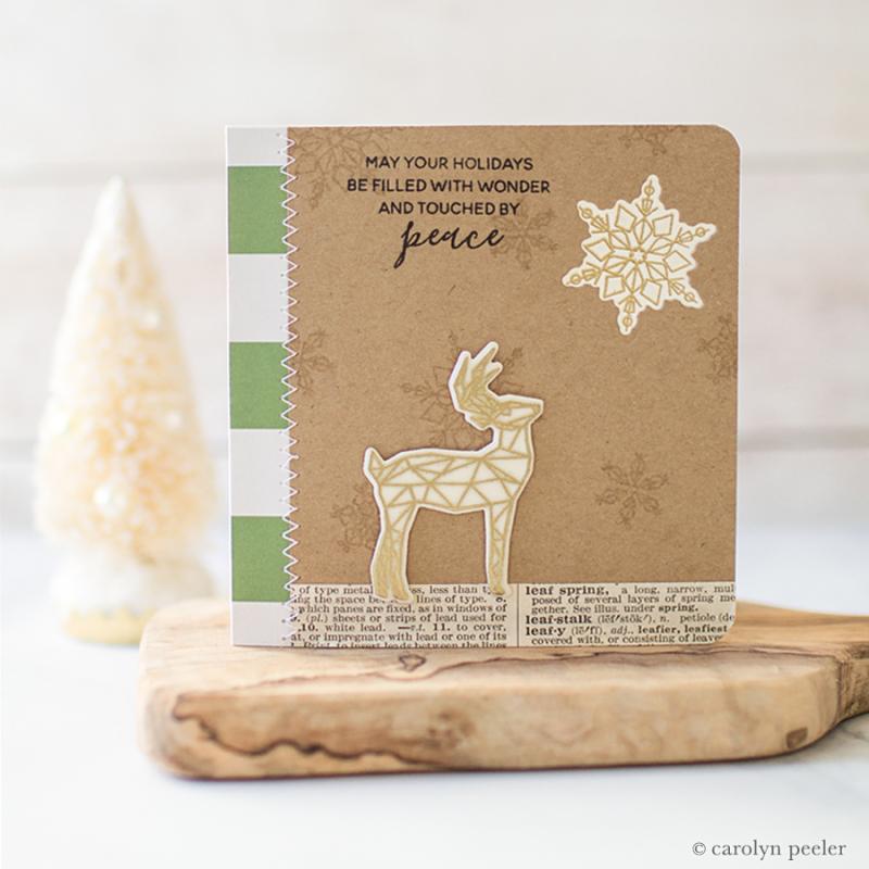 Christmas peace card
