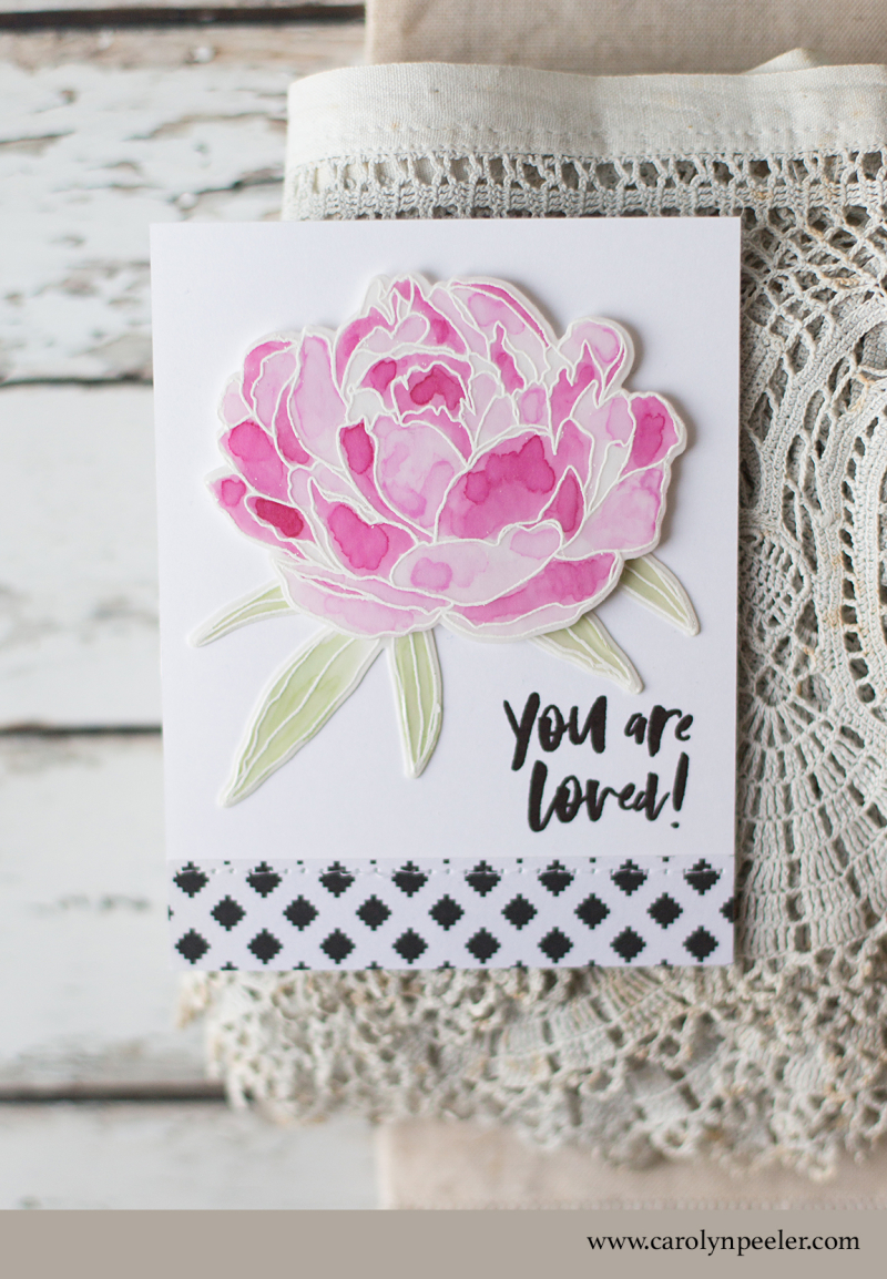 You are loved anniversary card by Carolyn Peeler