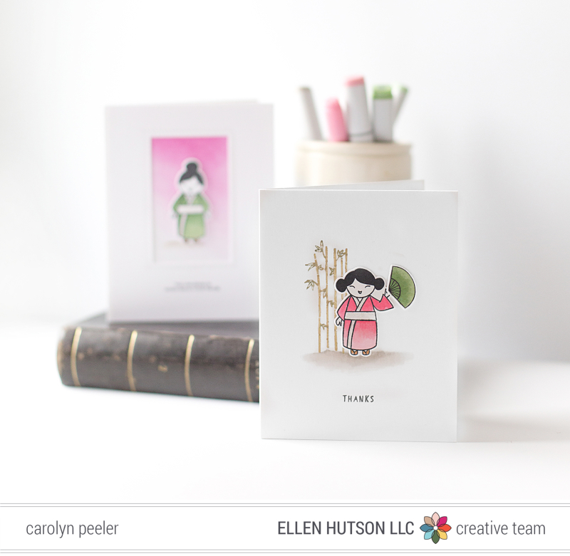 So Matcha - thanks card by Carolyn Peeler for blog EH