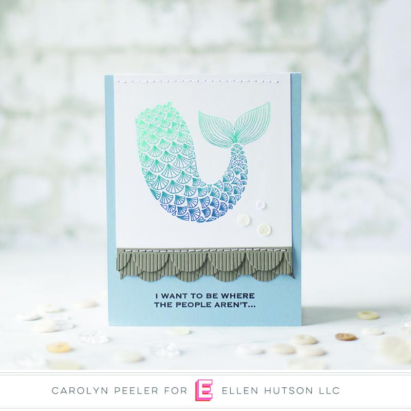 Mermaid card by Carolyn Peeler square