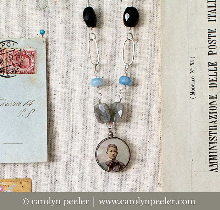 Wee Italian boy necklace by carolyn peeler