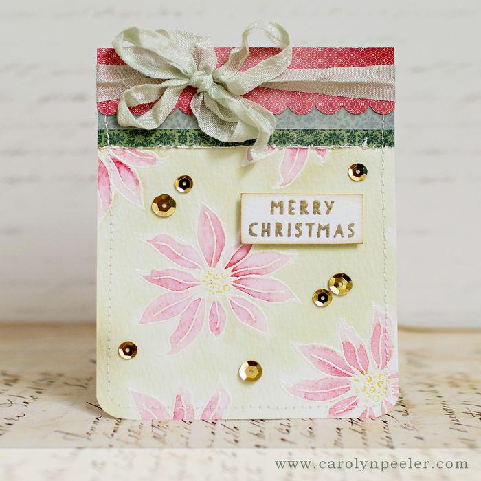 Poinsettia card by Carolyn Peeler