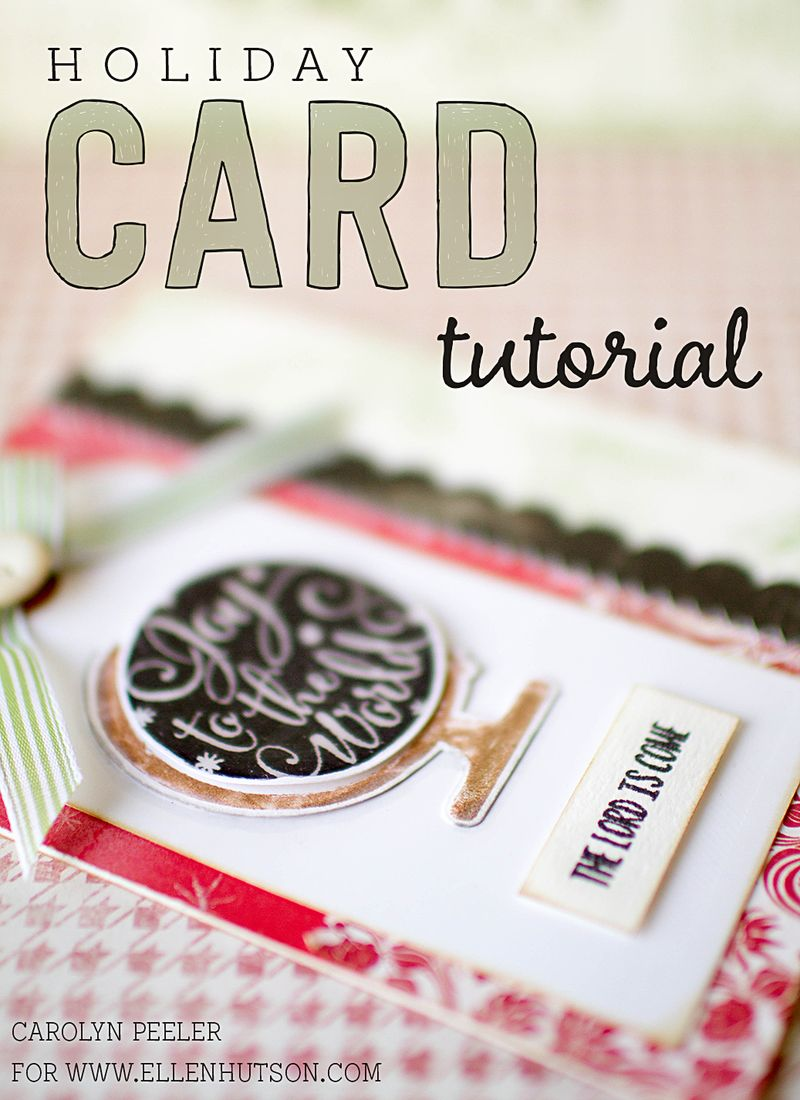Holiday card tutorial