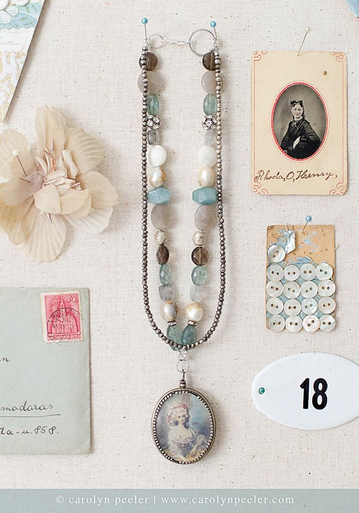 Italian painted lady necklace by carolyn peeler