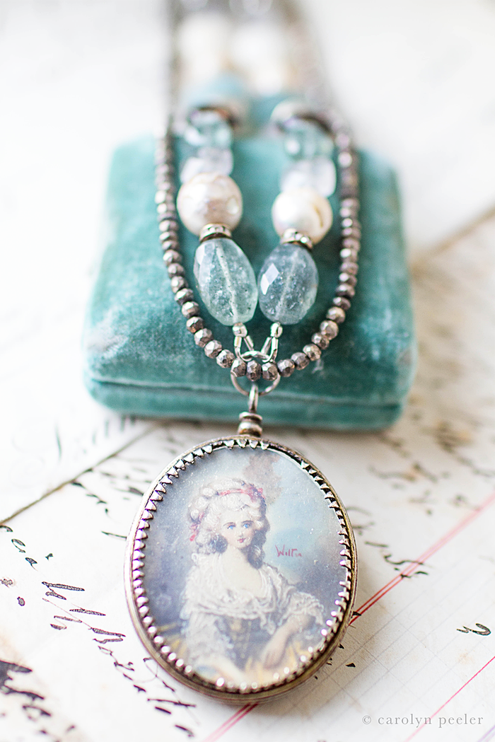 Painted lady necklace by carolyn peeler view 3