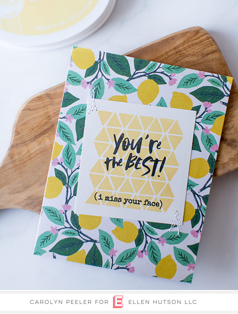 You're the best lemon card
