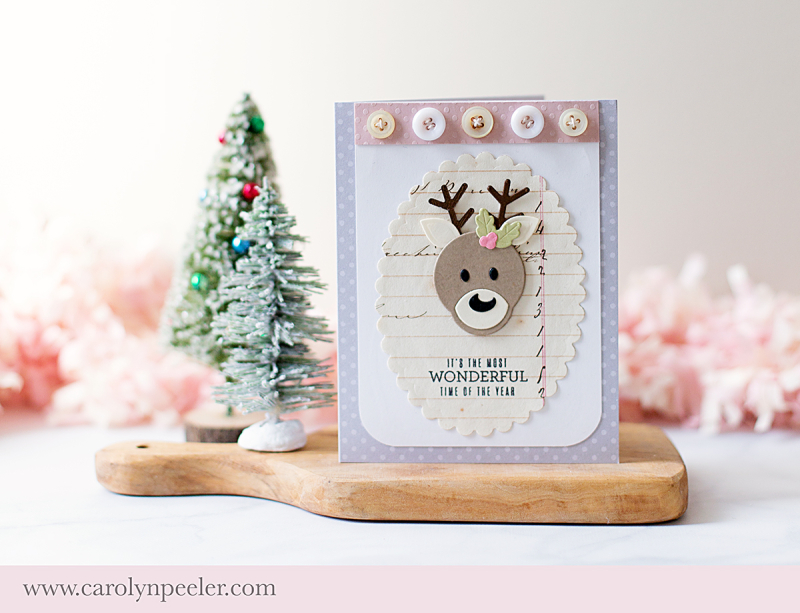 Wonderful time of the year deer Spellbinders by Carolyn Peeler
