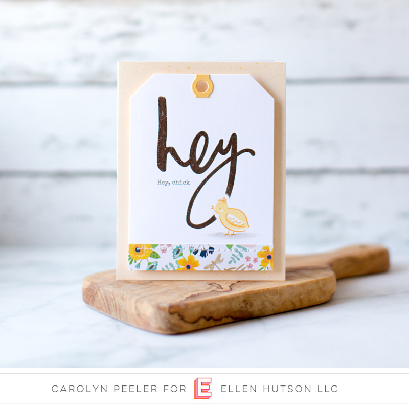Hey chick card by Carolyn Peeler
