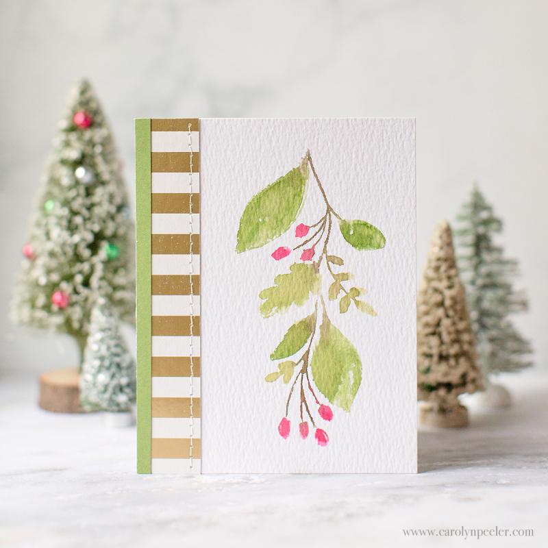 Happy Hollydays card by Carolyn Peeler