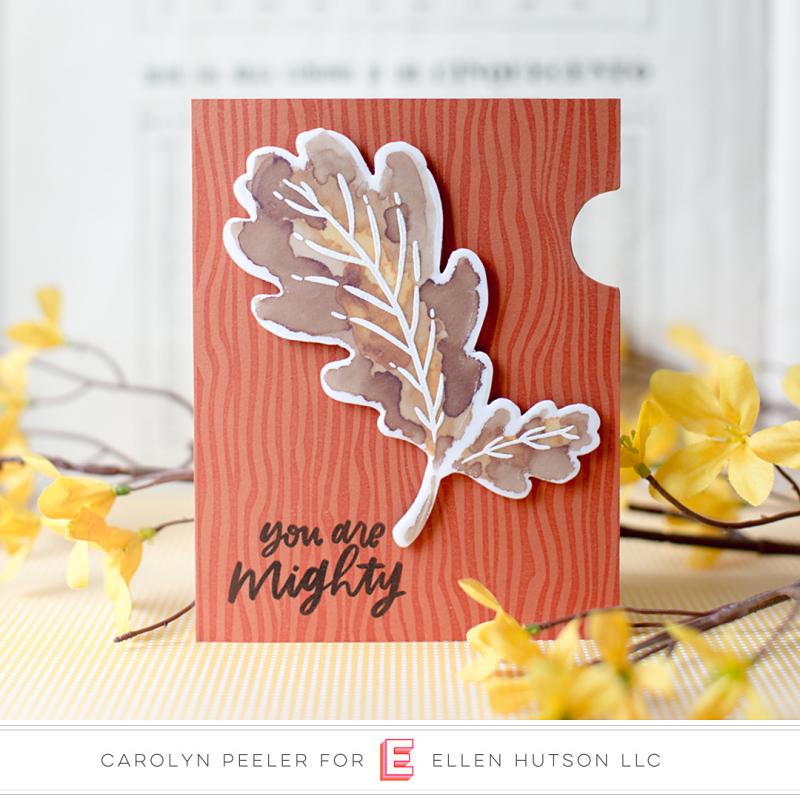 Mondo Oak Leaf card by carolyn peeler