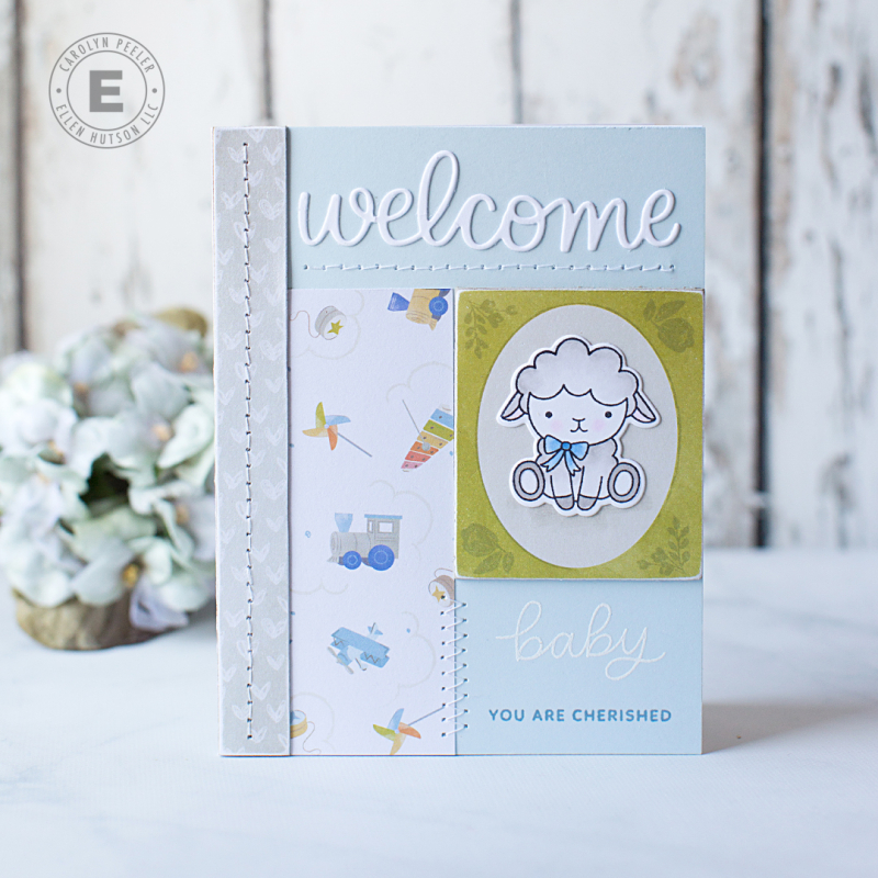 Welcome little one lamb by Carolyn Peeler