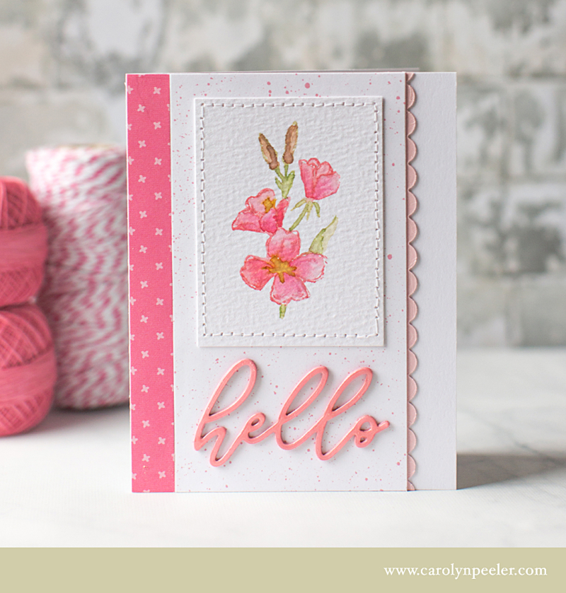 Hello fusia greeting for B by Carolyn Peeler