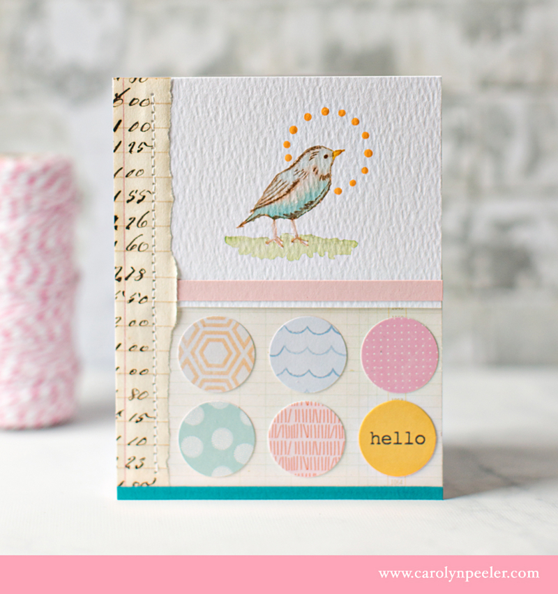 RS bird pink hello B by Carolyn Peeler
