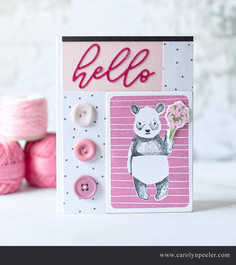 Hello Panda by Carolyn Peeler for blog