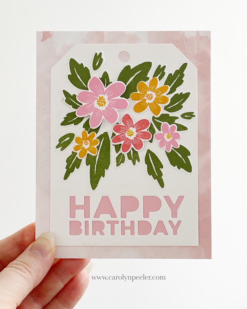 Stamp Market Happy Birthday by Carolyn Peeler
